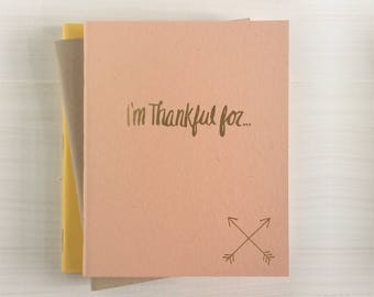 i'm thankful for pressed pocket journal with crossed arrows set of 3