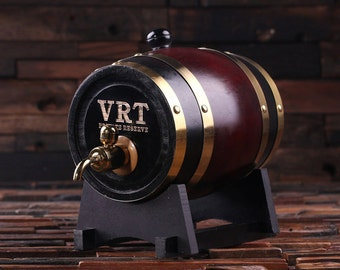 1.5 L Personalized Whiskey Barrel Unique Groomsmen, Men's Christmas, Man Cave Gift