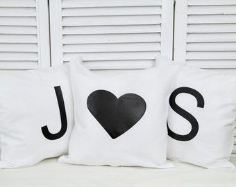 Personalized cotton pillow with letters