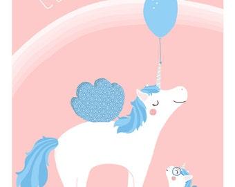 Displays Unicorn - customizable - child - birth gift - Unicorn's room Decoration