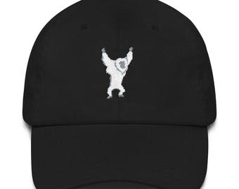 Cool Yeti Monster Arctic Creature Embroidered Dad Hat Gift for Him or Her