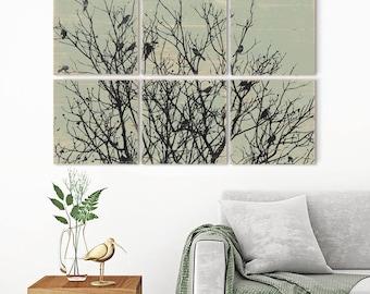Extra Large Wall Art - Bird on Branch - Bird Art for Sale - Bird Art Print - Bird Artwork - Tree Artwork - Tree Art Print - Tree Branch Art