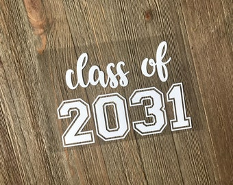 Class of 2031 Iron on Transfer, Class of 2029 Iron on, Class of 2030 Jersey number Heat Transfer Vinyl, Class of 2031 Shirt,  Iron on decal