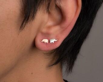 Extra Tiny Elephant Earrings Elephant Studs in sterling silver Jewelry minimal earrings Christmas gift best friend