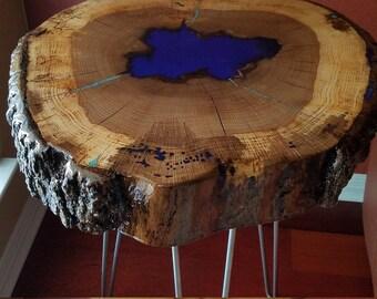 Live Edge Live Oak Tree Ring Table