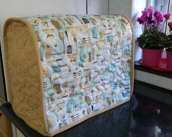 Mixer cover, kenwood mixer cover, baking mixer cover, housewarming gift, Kitchen Appliance Cover, Quilted mixer cover, brown mixer cover