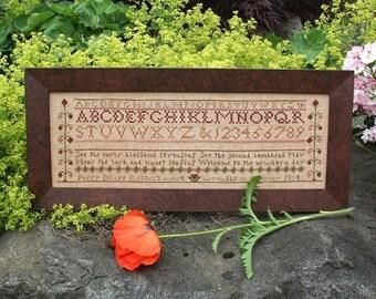 Poppy Maye Russell : Cross Stitch Pattern by Heartstring Samplery