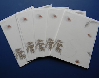 Set of Blank White Note Card Bases, Leave Design Layers and Envelopes (475) - IN STOCK
