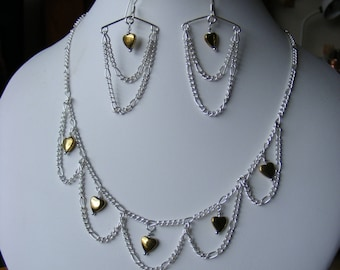 Necklace and Earrings - Genuine Gemstones