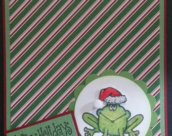 Happy Holidays Froggie Card
