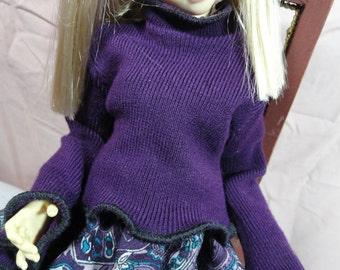 MSD BJD Sweater Deep Purple 2