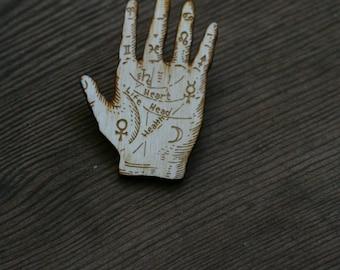 Palmistry Hand Brooch