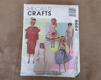 Vintage McCall's Crafts 9664 Doll Clothes Collection ©1998