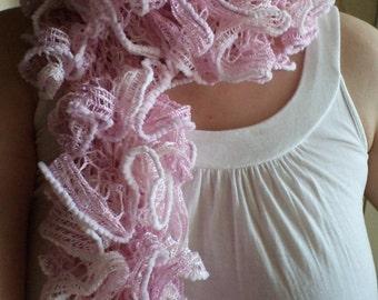 PDF scarf PATTERN for Knitting Ruffle Scarves Yourself. DIY Ruffle Scarf. Ribbon Scarf. Flounce Scarf. Crocheted, Handknitted Scarf. Pdf.