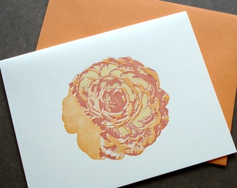 Rose Letterpress Card