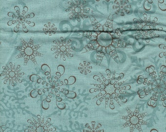 Figgy Pudding  by Moda Brown, Blue 1 Yard Fabric