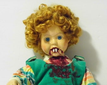 Twilight Annie Demonic Dollie - Baby Vampire Doll - See shop for more Awesome Scary Dolls!