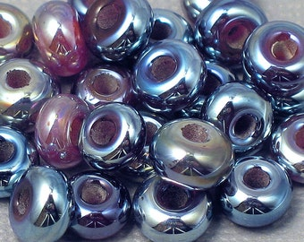 Lampwork Spacer Beads (set of 10) - Kalypso