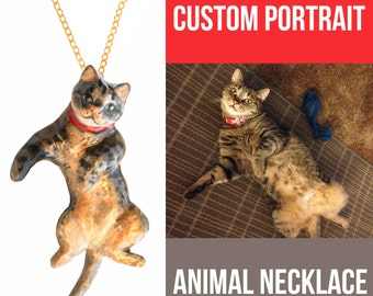 CUSTOM PET PORTRAIT necklace, personalized animal necklace, Birthday Gift Idea, 3D custom dog necklace, custom cat portrait necklace, 목걸이