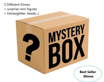 Cheap mystery slime box pack of 3 different slimes