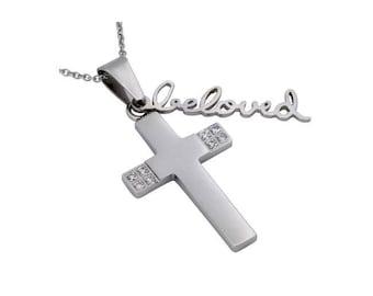 """Handwriting Cross """"Beloved"""""""