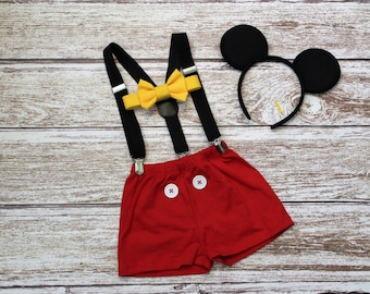 Mouse Birthday Outfit Boys, Boys  Mouse Cake Smash Outfit, First Birthday Outfit, PLEASE READ LISTING
