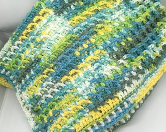 Crocheted Baby Stroller Blanket - Waffle