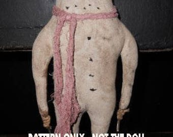 Snowman epattern-NOT DoLL doll Crows Roost Prims 353e Primitive Alfred epattern  immediate download