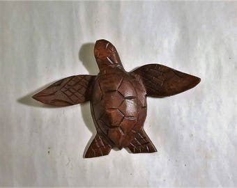 Turtle wood carving (#trtlwng5.5)