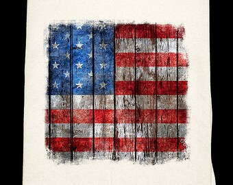 Distressed American Flag Flour sack towel