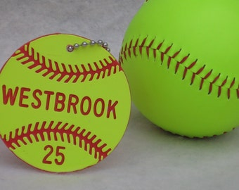 Personalized Softball Gifts / Softball Team Gifts / Softball Bag Tags / Fastpitch Softball Gifts