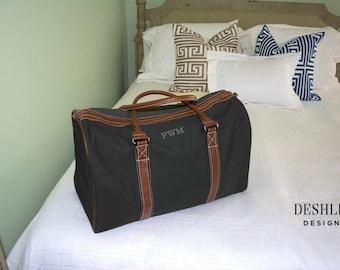 Mens Duffel Bag, Monogram Duffel Bag, mens monogram duffel bag, duffel bag with initials, groomsmen gift, personalized groomsmen gift