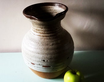 Large Vintage Stoneware Pitcher