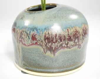 Flower Ikebana - Pinfrog Bowl - Ikebana Stoneware - Ikebana Bowl - Ikebana Pot - Ikebana Bud Vase - Vessel Ikebana - Vase Ikebana - In Stock