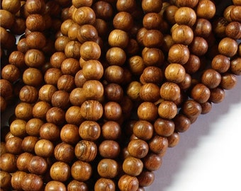 Wood Bead, Round 6mm, Bayong - 16 Inch Strand (WDRD-06BY)