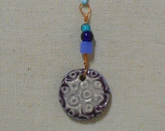 Moon Surface, Moon Craters Patterned Charm, Prayer Charm, Amulet, Car Charm