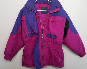 90's hot pink St. John's Bay fitted ski jacket