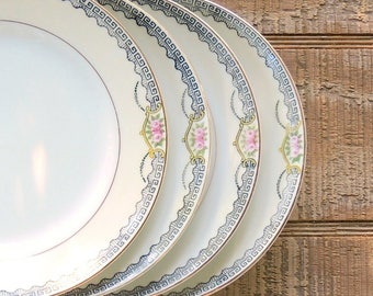 Vintage Noritake Deerlodge Bread and Butter Plates Set of 4 Weddings Tea Parties Cottage Style Plates Antique Plates Ca 1918