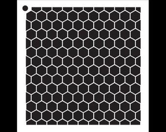 """Honeycomb - Pattern Stencil - 6"""" x 6"""" - SKU: STCL810_1"""