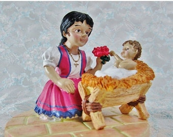 Vintage House of Lloyd Christmas Around the World Poinsettia Girl Figurine