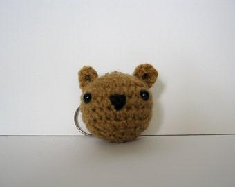 Crochet Brown Bear Amigurumi Keychain