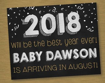 New Year Pregnancy Announcement/Best Year Ever!/Digital Download/Customizable