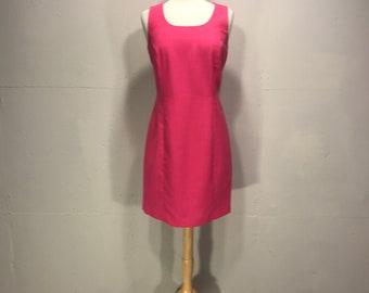 90s Pink sleeveless spring summer hot pink Atrium Collection dress formal wedding garden party dress