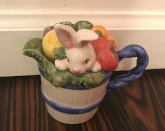 Fitz and Floyd Bunny Rabbit 1993 Creamer