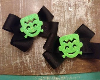 Halloween bow! 5 different types to choose from! Sets of 2, pigtail bows