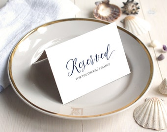 Navy Reserved Sign Etsy - Reserved place card template