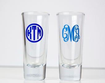 Monogrammed Shot Glass - Monogram - Glasses - Shotglass Set - Glassware - Custom Glassware - Custom Shotglasses
