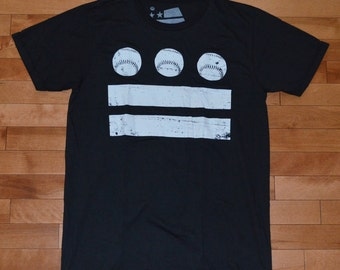 Washington DC Baseball Flag Shirt (Black) - Medium