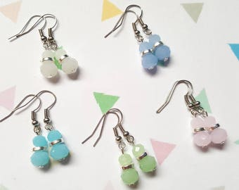 Pastel beaded earrings, Beaded earrings, Pastel, Beads, Dangle earrings, Pastel earrings, Pastels, Gifts for her