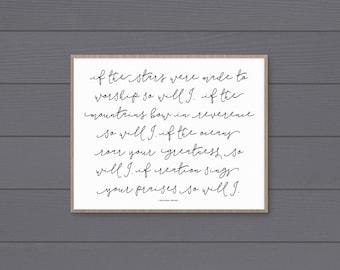 So Will I Art Print (Horizontal) • Printable • Digital Download